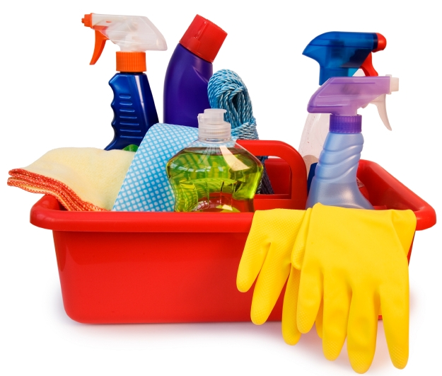 Cleaning.supplies.gloves