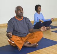meditating.male.female.om