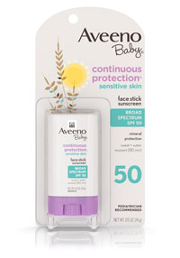 Image of Baby Continuous Protection® Sensitive Skin Face Stick Sunscreen SPF 50 packaging