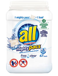 Image of mighty pacs® detergent packaging