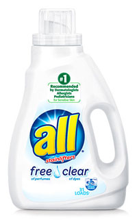 Image of liquid laundry detergent packaging