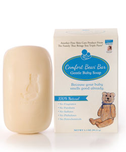 Image of Comfort Bear Bar Gentle Baby Soap packaging