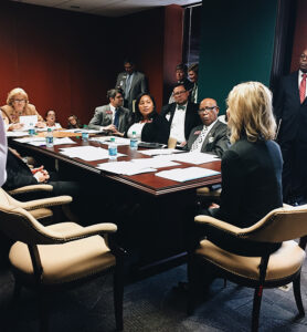 Kelly Barta meeting with Georgia state legislators