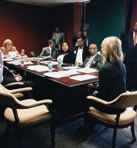 Kelly Barta meeting with Georgia state legislators