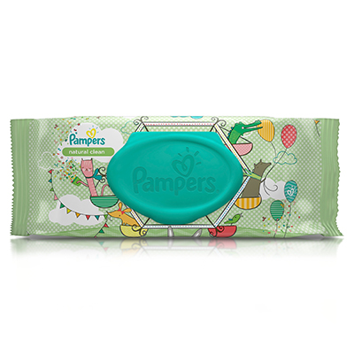 Pampers 174 Natural Clean Wipes National Eczema Association