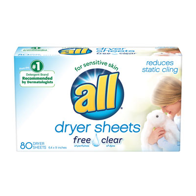 Image of dryer sheets packaging