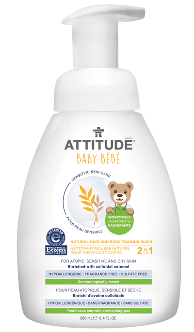 Image of Sensitive Skin BABY 2in1 Hair and Body Foaming Wash packaging