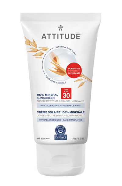 Image of Sensitive Skin Sunscreen - SPF 30 - Fragrance Free packaging