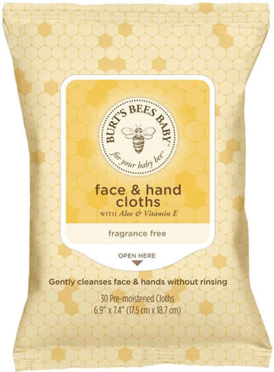 Image of Baby Bee Face & Hand Cloths packaging