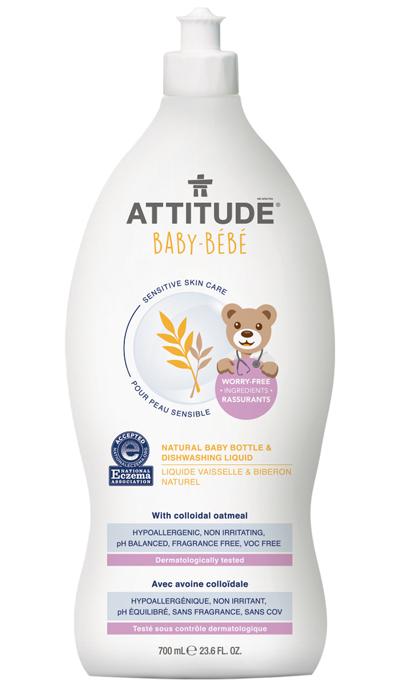 Image of Sensitive Skin BABY Bottle & Dishwashing Liquid packaging