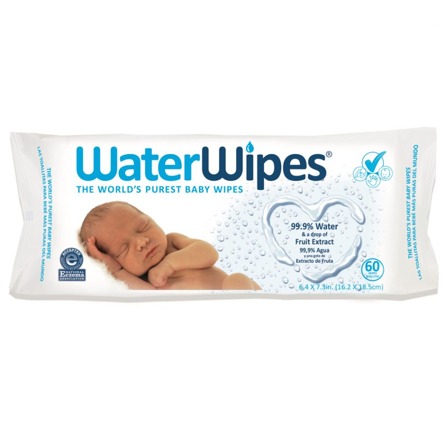 Image of WaterWipes Sensitive Baby Wipes packaging