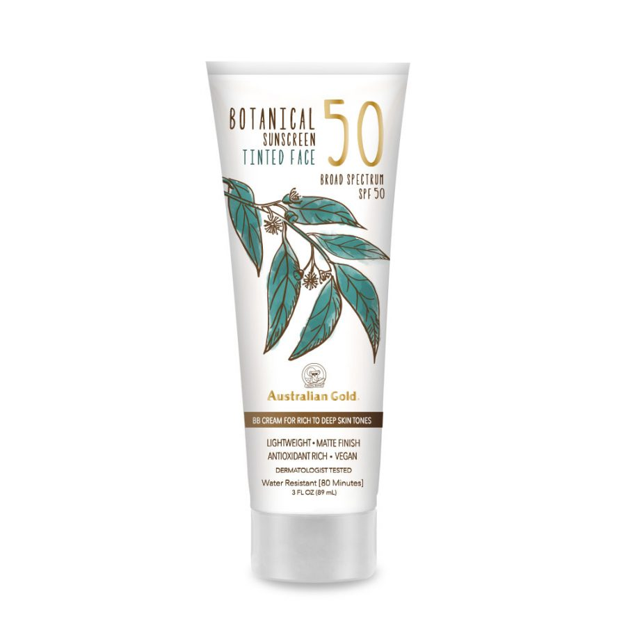 Image of Botanical SPF 50 Tinted Face Mineral Lotion - Rich to Deep packaging