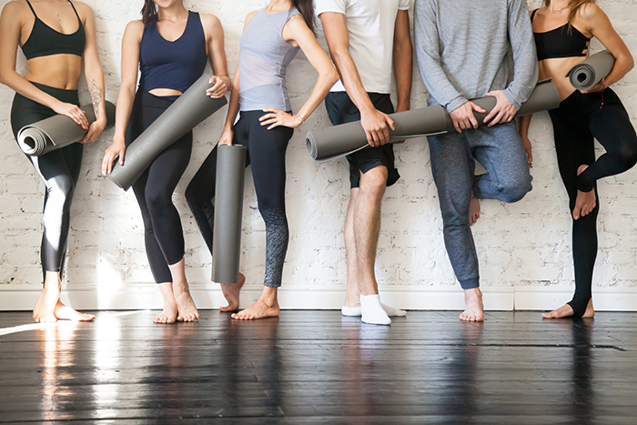 a group of people ready to work out