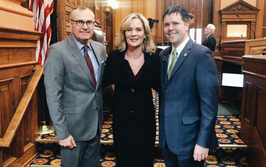 Kelly Barta at her state legislature