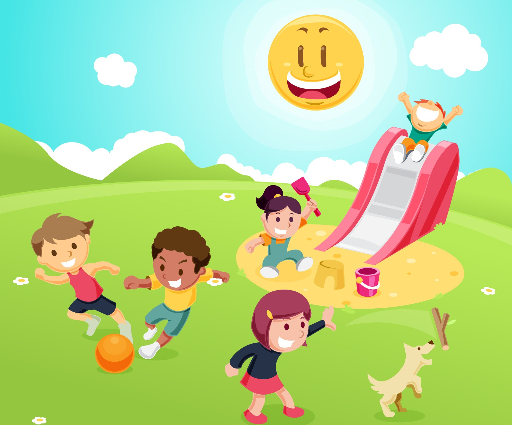 Happy health children with eczema